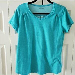 Columbia Short Sleeve V Neck Outdoor Tee Large